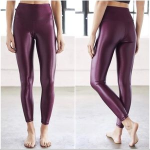 DYI High Shine High Waist Leggings Burgundy